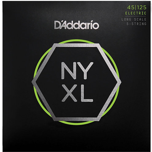 D'Addario NYXL45125 Nickel Wound Bass Guitar Strings 5-String Lt Top / Med Btm 4