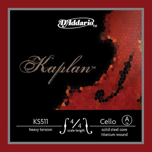 D'Addario Kaplan Cello SGL A String 4/4 Scale Med Tension
