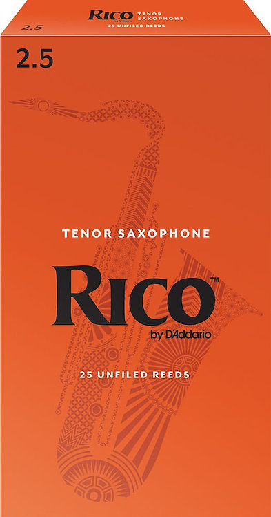 Rico by D'Addario Tenor Sax Reeds Strength 2.5 25-pack