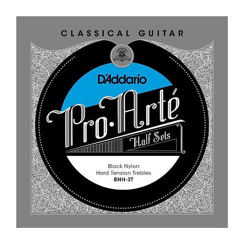 D'Addario BNH-3T Pro-Arte Black Nylon Classical Guitar Half Set Hard Tension