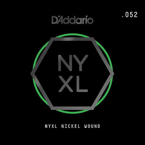D'Addario NYNW052 NYXL Nickel Wound Electric Guitar SGL String .052