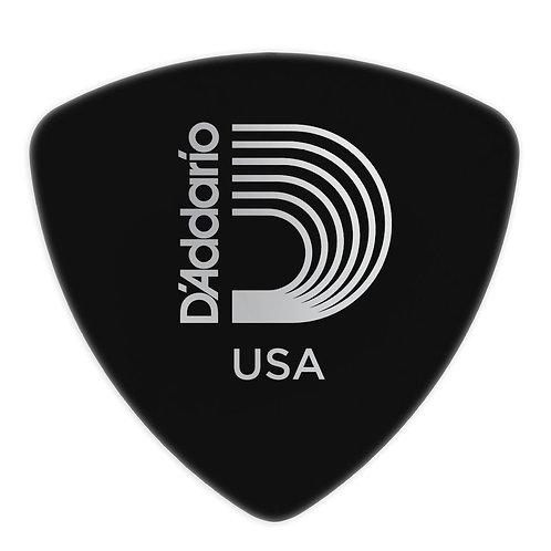 D'Addario Black Celluloid Guitar Picks 25 pack Med Wide Shape