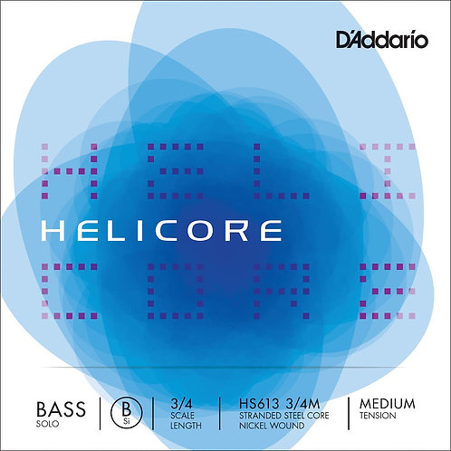 D'Addario Helicore Solo Bass SGL B String 3/4 Scale Med Tension
