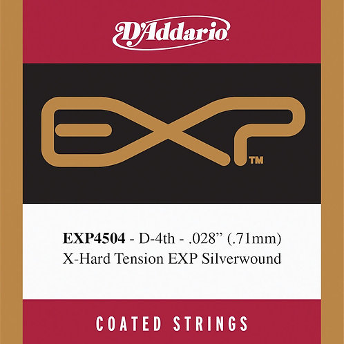D'Addario EXP4504 Coated Classical  Guitar SGL String Normal Tension Fourth Stri