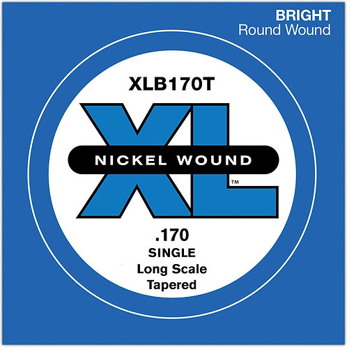 D'Addario XLB170T Nickel Wound Bass Guitar SGL String Long Scale .170 Tapered