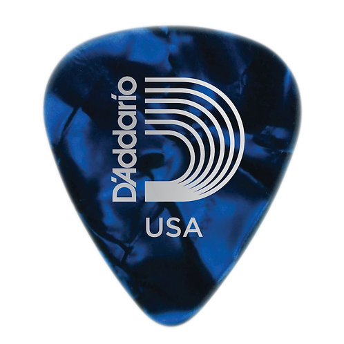 D'Addario Blue Pearl Celluloid Guitar Picks 100 pack Light