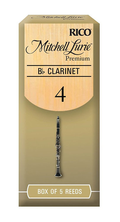 Mitchell Lurie Premium Bb Clarinet Reeds Strength 4.0 5 Pack