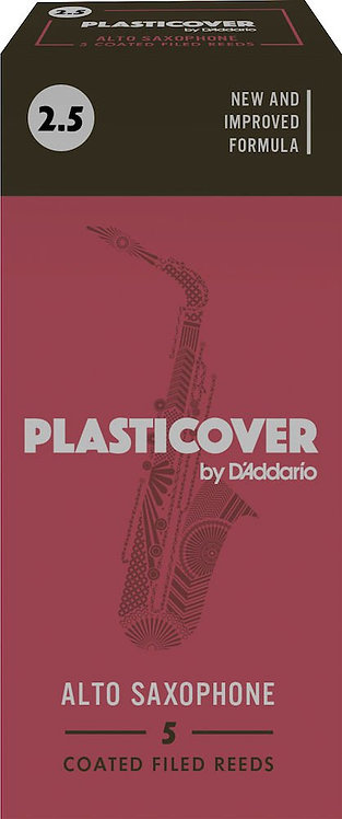 Plasticover by D'Addario Alto Sax Reeds Strength 2.5 5-pack