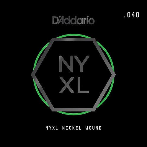 D'Addario NYNW040 NYXL Nickel Wound Electric Guitar SGL String .040