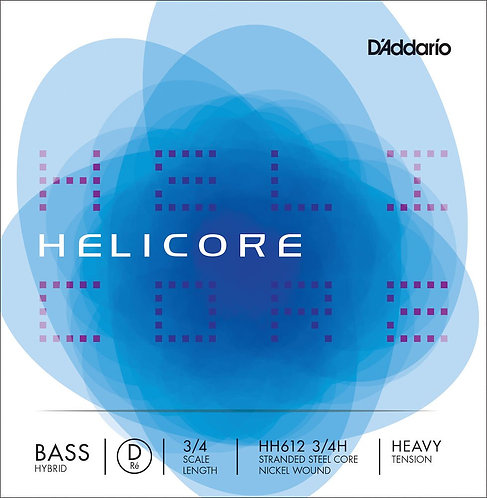 D'Addario Helicore Hybrid Bass SGL D String 3/4 Scale Hvy Tension