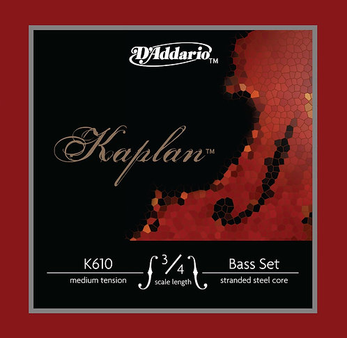 D'Addario Kaplan Bass String Set 3/4 Scale Med Tension