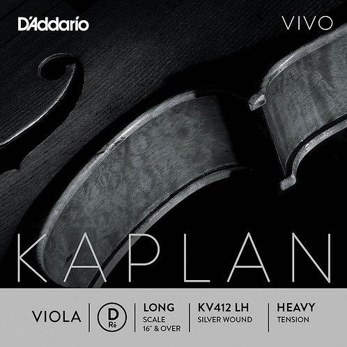 D'Addario Kaplan Vivo Viola D String Long Scale Hvy Tension