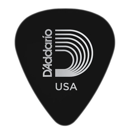 D'Addario Black Celluloid Guitar Picks 25 pack Med