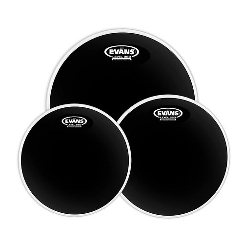Evans Black Chrome Tompack Standard (12 inch  13 inch  16 inch)