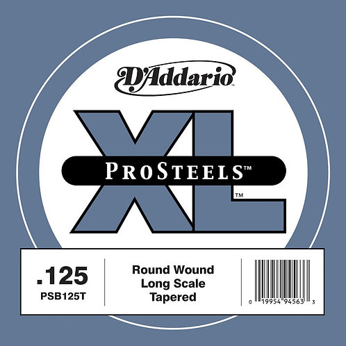 D'Addario PSB125T ProSteels Bass Guitar SGL String Long Scale .125 Tapered