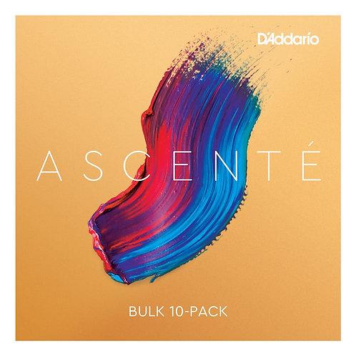 D'Addario Ascent Violin SGL E String 1/2 Scale Med Tension Bulk 10-Pack