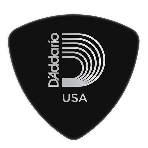 D'Addario Black Celluloid Guitar Picks 100 pack Hvy Wide Shape