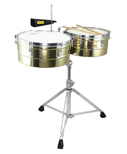 Brass Shell Timbales