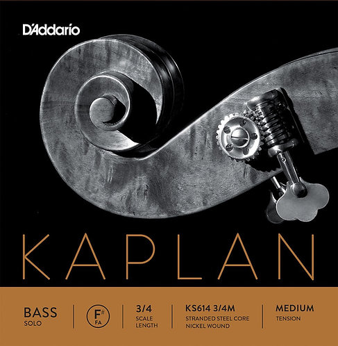 D'Addario Kaplan Solo Double Bass F# String 3/4 Scale Med Tension