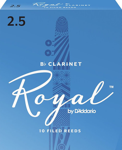 Royal by D'Addario Bb Clarinet Reeds Strength 2.5 10-pack