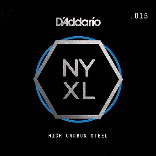 D'Addario NYS015 SGL Plain Steel Guitar String .015