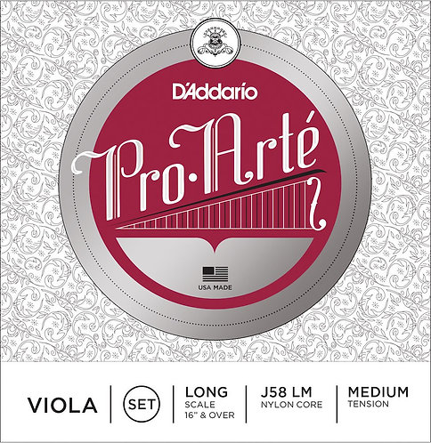 D'Addario Pro-Arte Viola String Set Long Scale Med Tension