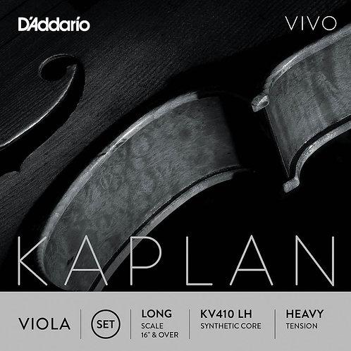 D'Addario Kaplan Vivo Viola String Set Long Scale Hvy Tension