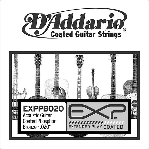 D'Addario EXPPB020 EXP Coated Phosphor Bronze SGL String.020