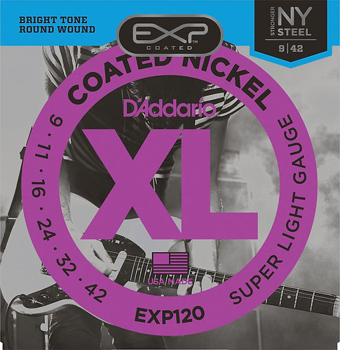 D'Addario EXP120 Coated Electric Guitar Strings Super Light 9-42