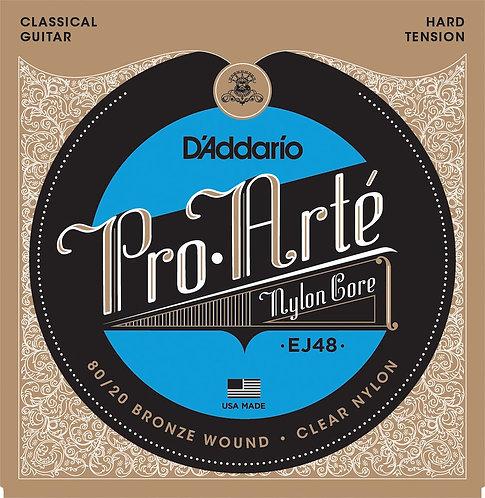 D'Addario EJ48 80/20 Bronze Pro-Arte Nylon Classical Guitar Strings Hard