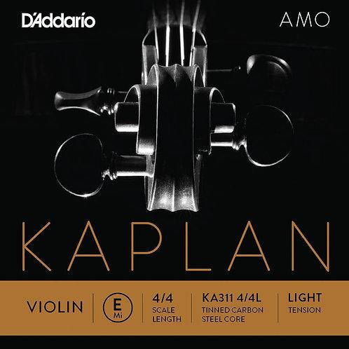 D'Addario Kaplan Amo Violin E String 4/4 Scale Light Tension
