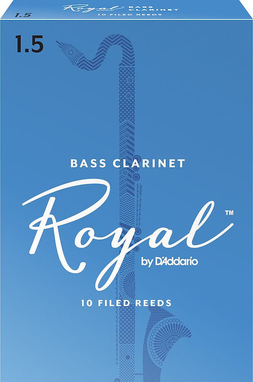 Royal by D'Addario Bass Clarinet Reeds Strength 1.5 10 Pack