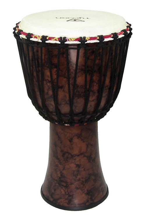 "10"" Fiberglass Djembe - Marble Finish (Rope Tuned)"