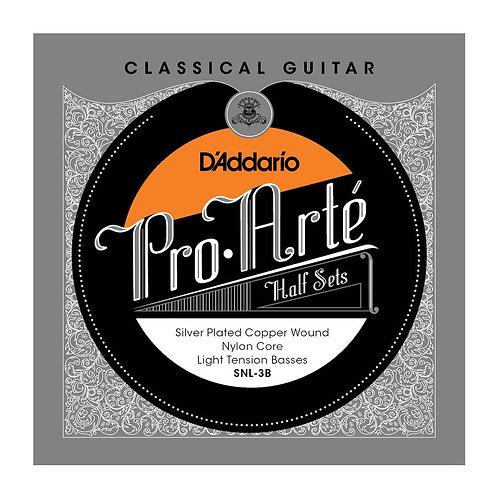 D'Addario SNL-3B Pro-Arte Silver Plated Copper on Nylon Core Classical Guitar Ha