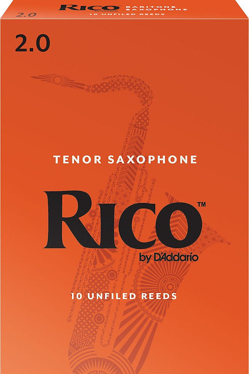 Rico by D'Addario Baritone Sax Reeds Strength 2 10-pack