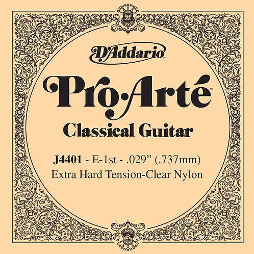 D'Addario J4401 Pro-Arte Nylon Classical Guitar SGL String X-Hard Tension First