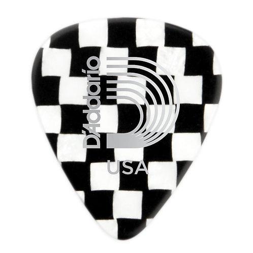D'Addario Checkerboard Celluloid Guitar Picks 100 pack Hvy