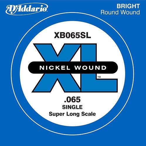 D'Addario XB065SL Nickel Wound Bass Guitar SGL String Super Long .065