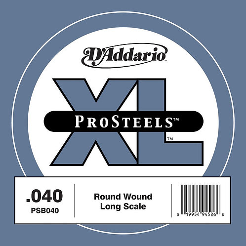 D'Addario PSB040 ProSteels Bass Guitar SGL String Long Scale .040