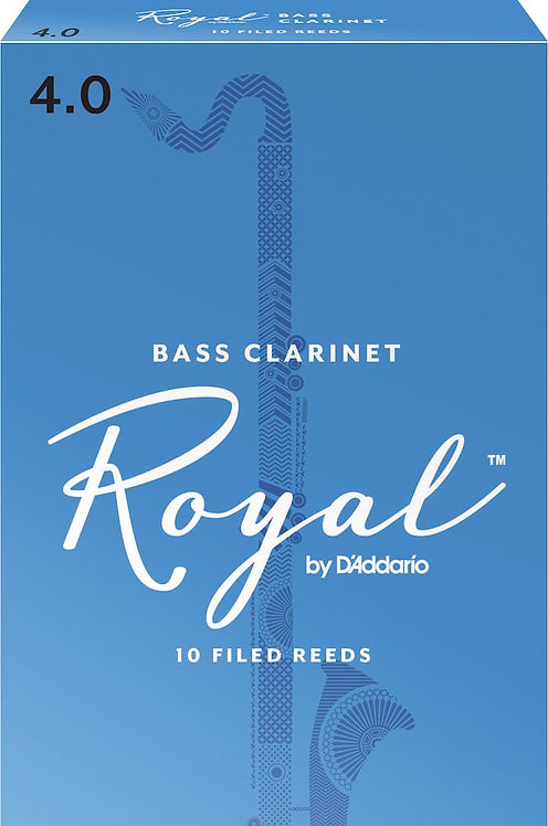 Royal by D'Addario Bass Clarinet Reeds Strength 4 10 Pack