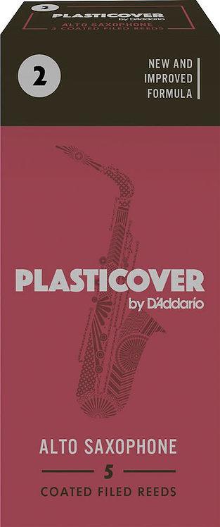 Plasticover by D'Addario Alto Sax Reeds Strength 2 5-pack