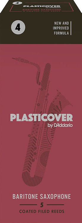 Plasticover by D'Addario Baritone Sax Reeds Strength 4 5-pack