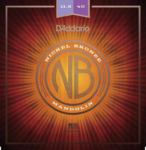 D'Addario NBM11540 Nickel Bronze Mandolin Set Custom Med 11.5-40