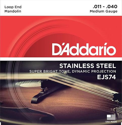 D'Addario EJS74 Mandolin Strings Phosphor Bronze Stainless Steel 11-40