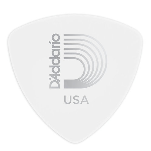 D'Addario White Celluloid Guitar Picks 25 pack Med Wide Shape