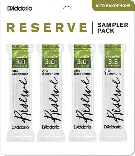 D'Addario Reserve Alto Saxophone Reed Sampler Pack 3.0/3.0+/3.5