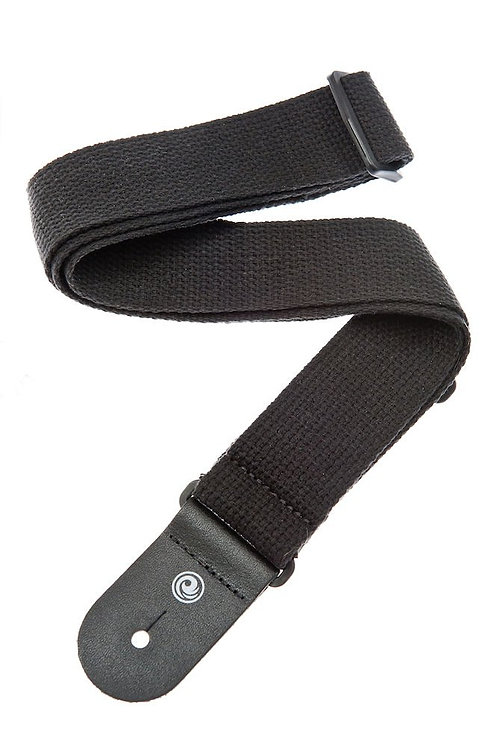 D'Addario Cotton Guitar Strap Black