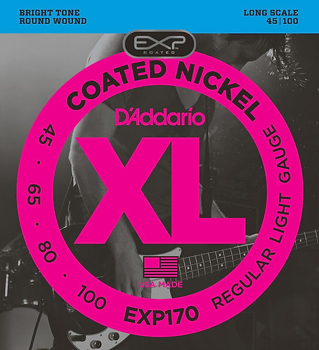 D'Addario EXP170 Coated Bass Guitar Strings Light 45-100 Long Scale