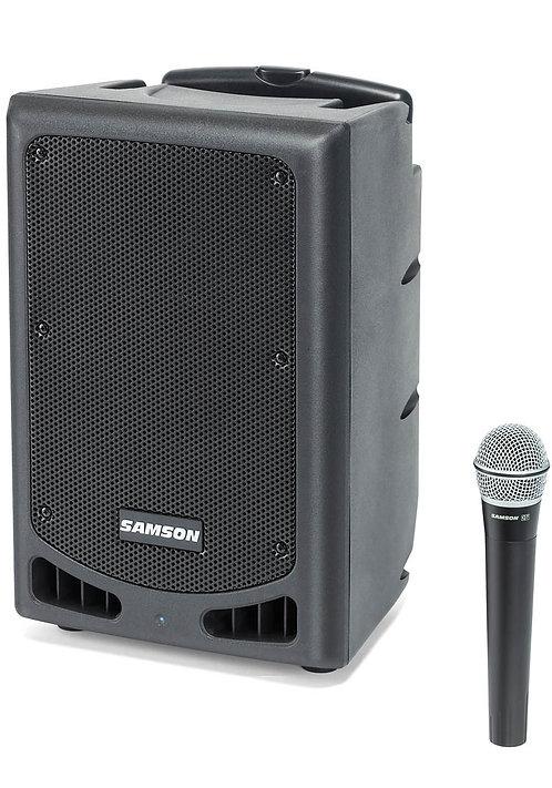 """Samson Xp108w Portable Pa 8""""; Ch 17 Bluetooth, Wireless Hh Mic"""