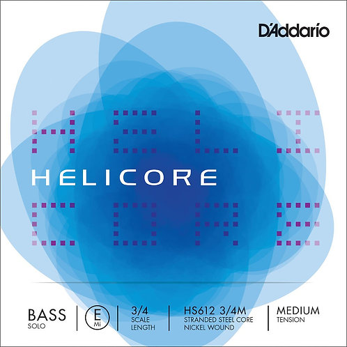 D'Addario Helicore Solo Bass SGL E String 3/4 Scale Med Tension